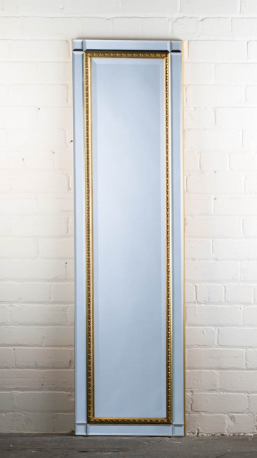 Classic Contemporary Gold Full length Mirror
