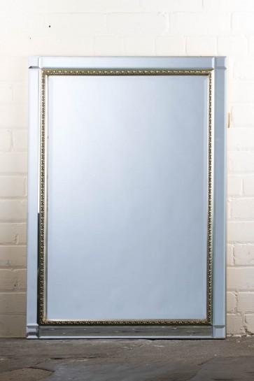 Classic Contemporary Ornate Silver Mirror