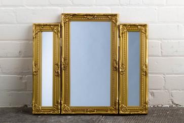 Dressing Table Range Gold Mirror