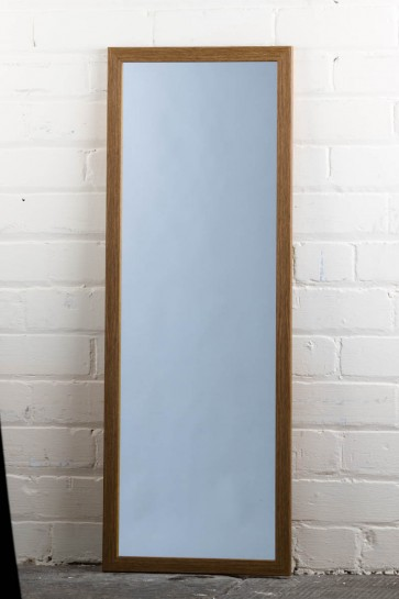 Poly Range Oak Full Length Mirror