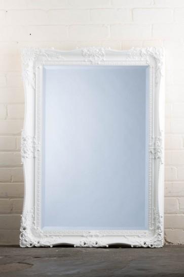 Traditional Range White Holes Mirror