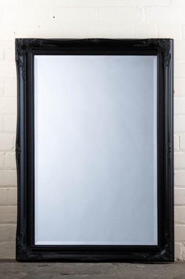 Regular  Tudor Ornate Mirror in Black