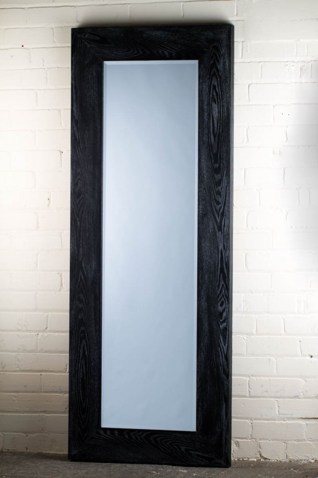 This stunning barn wood range black full length mirror is for Full length mirror black frame