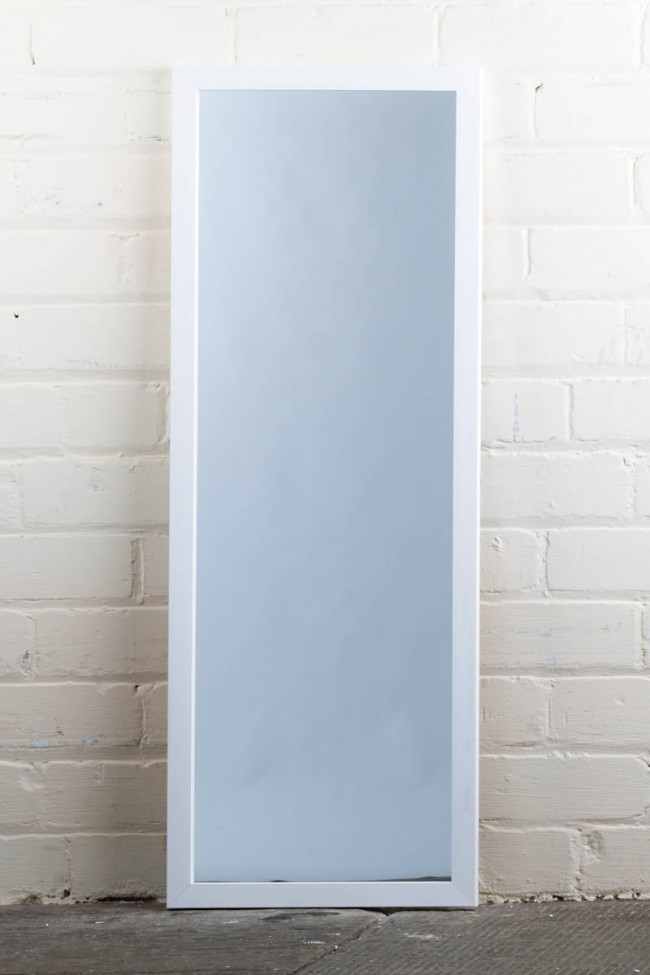 This Stunning Poly Range White Full Length Mirror Is