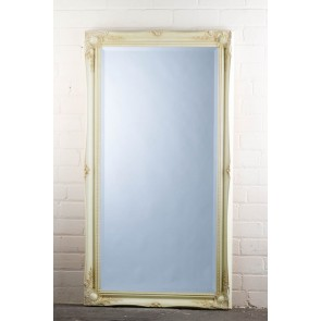 Wide Full Length Tudor Ornate Mirror in Cream