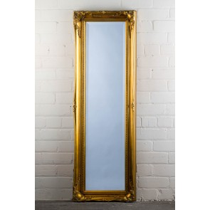 Full Length Tudor Ornate Mirror in Gold