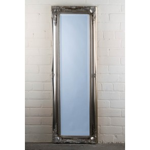 Full Length Tudor Ornate Mirror in Silver