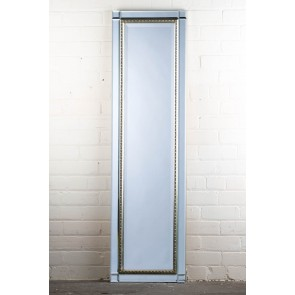 Classic Contemporary Silver Full length Mirror