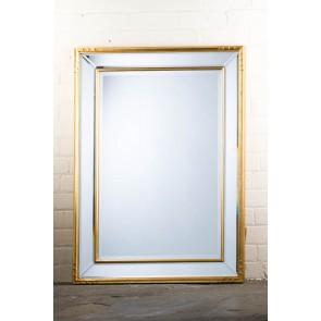 Classic Contemporary Gold Balti Mirror
