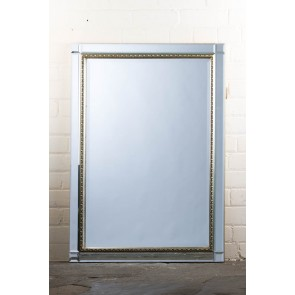 Classic Contemporary Ornate Silver Mirror
