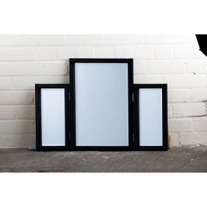 Cosmetic Range Black Dressing Table Mirror