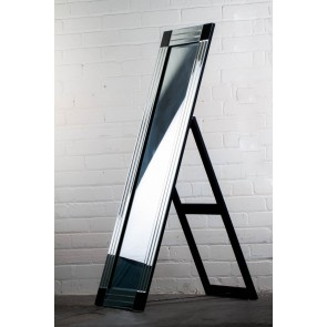 Black Corner Cheval Mirror