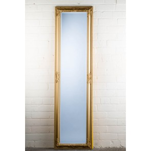Cheshire Cheval Mirror in Gold