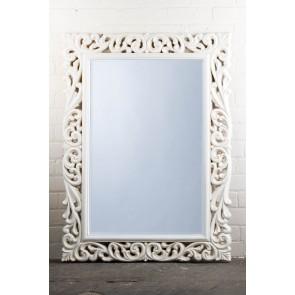 Celtic Range White Ornate Mirror