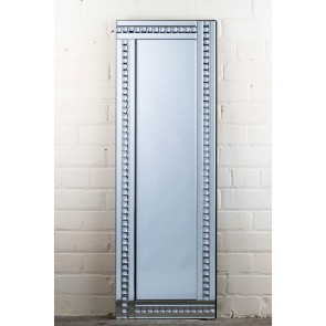 Deluxe Frameless Clear Crystal Full Length Mirror