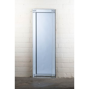 Deluxe Frameless Square Corner Full Length Mirror