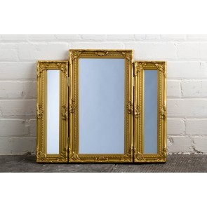 Dressing Table Range Gold Mirror
