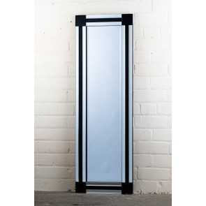 Frameless Black Stripe Full Length Mirrror
