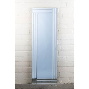 Frameless Stripe Corner Full Length Mirror