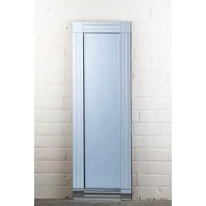 Frameless Clear Stripe Full Length Mirror