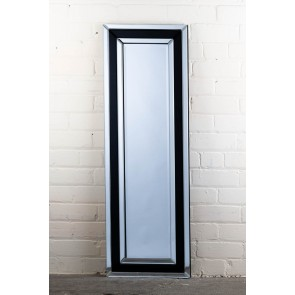 Frameless Thick Stripe Full Length Mirror
