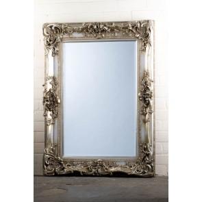 Georgian Range Ornate Silver Mirror