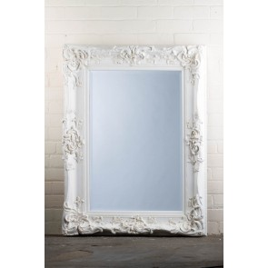 Georgian Range Ornate White Mirror