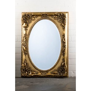 Georgian Range Gold Oval  Mirror