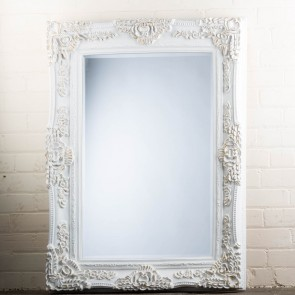 Georgian Range White and Gold Mirror