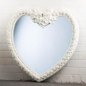 Heart Range White Rose Mirror