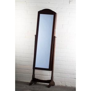Jewellery Cabinet Cheval Mirror in Brown