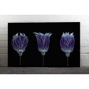 Liquid Art Range Purple Flower Mirror