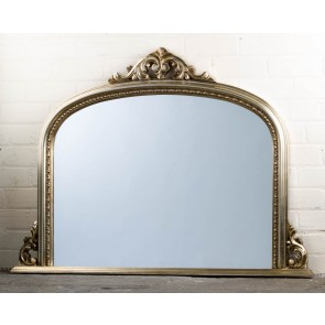 Silver Ornate Over Mantle Mirror
