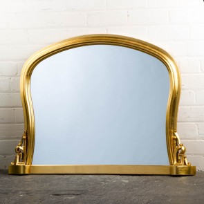 Wavey Gold Ornate Over Mantle Mirror