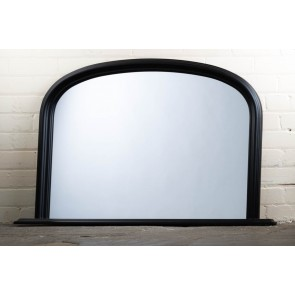 Black Over Mantle Mirror