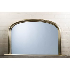 Silver Over Mantle Mirror