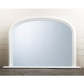 White Over Mantle Mirror
