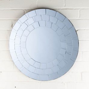 Petite Range Fancy Round Mirror