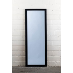 Poly Range Black Full Length Mirror
