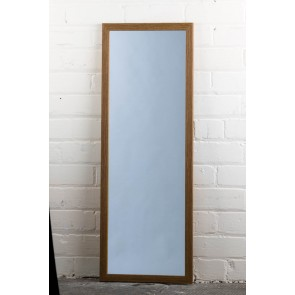 Poly Range Oak Full Length Mirror