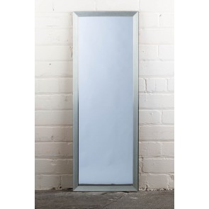 Poly Range Silver Full Length Mirror