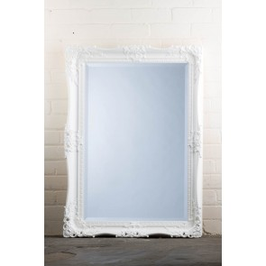 Traditional Range White Holes Mirror