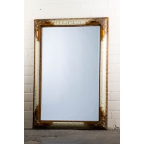 Traditional Snakeskin White Mirror