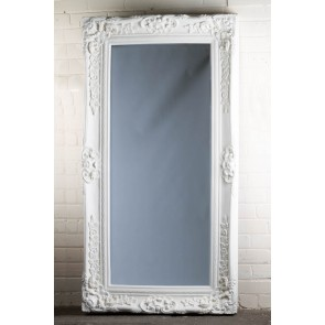 Traditional Range Full Length White Mirror