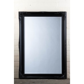 Regular  Tudor Ornate Mirror in Black