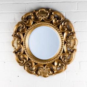 Ornate Round Victorian Range Gold Mirror